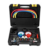 SUPERCRAZY R134A Air Conditioning Refrigeration Diagnostic Manifold Gauge Tool Kit SC0217