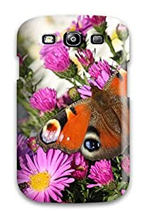 Premium Peacock Butterfly Back Cover Snap On Case For Galaxy S3