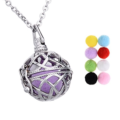 Celtic Knot Aromatherapy Essential Oil Diffuser Necklace Stainless Steel Pendant Cage Locket 24