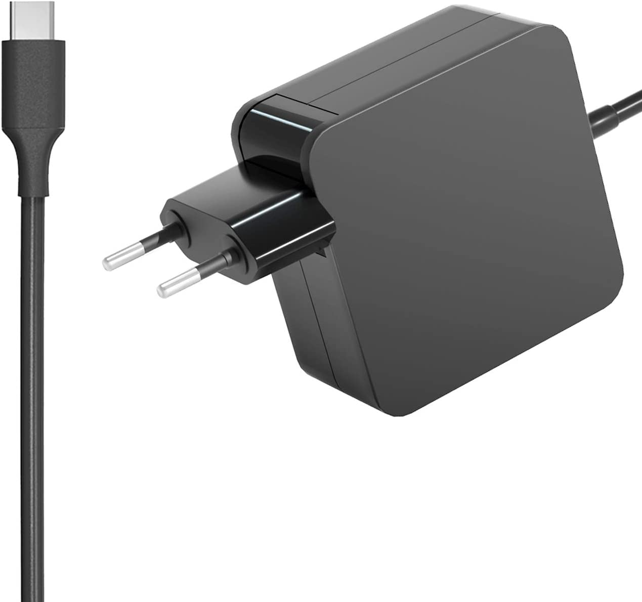Milipow - Cargador de 65 W tipo C para ordenador portátil HP Chromebook 13 G1; Chromebook x360 11 G1 EE; Elite x2 1012 G1 Tablet X2 210 G2 PC desmontable