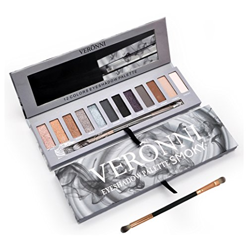 Eyeshadow Palette Smoky Makeup kit,Matte&Shimmer 12Colors |