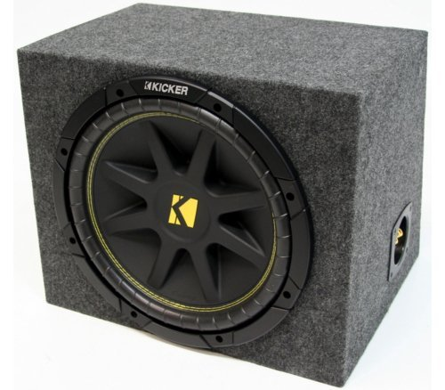 ASC Package Single 15″ Kicker Sub Box Sealed Rearfire Subwoofer Enclosure C15 Comp 500 Watts Peak