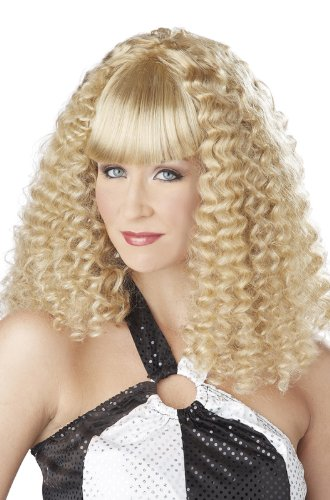 California Costumes Women's Disco Lady Wig, Blonde, One Size (70s Disco Gold Adult Costume)