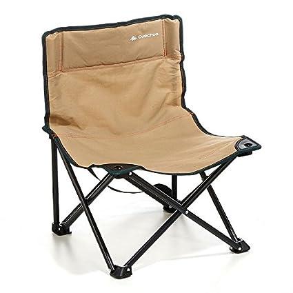 DECATHLON baja QUECHUA silla de CAMPING marrón