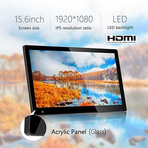15.6 Inch Large Digital Picture Frame with Hu Motion Sensor LCD Advertising Player with 1080P LCD AV HDMI Input VESA Full IPS Remote by SSA (Image #2)