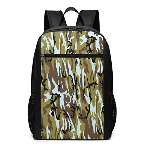 Camouflage Laptop Computer Backpack Business Stylish Casual Travel Bags 17 Inch