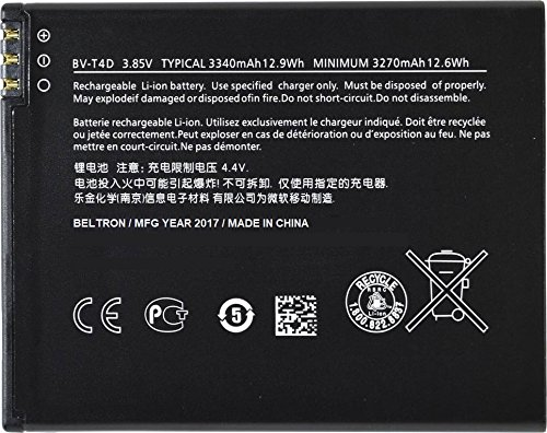 New 3340 mAh Replacement Battery for Microsoft Nokia Lumia 940 XL/950 XL BVT4D BV-T4D