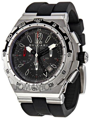 (Bvlgari Diagono X Pro Black Dial Chronograph Automatic Mens Watch DP45BSTVDCH-GMT)