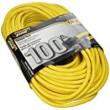 Cord Extension Outdoor 12/3x100ft Yellow