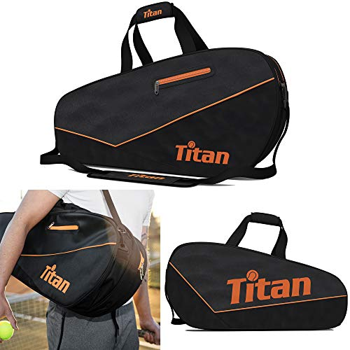 Titan Tennis Bag Pro 6 Racquet | 4 Large Pockets with Padded Inner Core to Protect | Beginner, Intermediate, Advanced,Professional Tennis Players Bags Designed for Men, Women and Youth from Titan Tennis