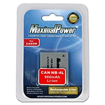 Maximal Power DB CAN NB-4L Replacement Li-Ion Battery for Canon NB-4L Battery