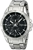 Armitron Men's 20/5059BKSV Stainless Steel Watch with Black Dial and Triple-Link Bracelet