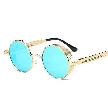 Sabarry Gafas de Sol con pequeñas, Redondo, Efecto Espejo ...
