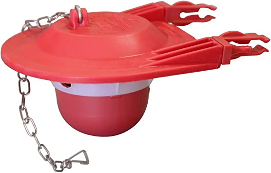 Universal Toilet Tank Flapper with Chain and Hook for Use with 3 in Flush Valve