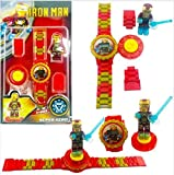 Ayezent Iron Man Avengers Kids Toy Watch with Rotating Iron Man Toy Fidget Spinner