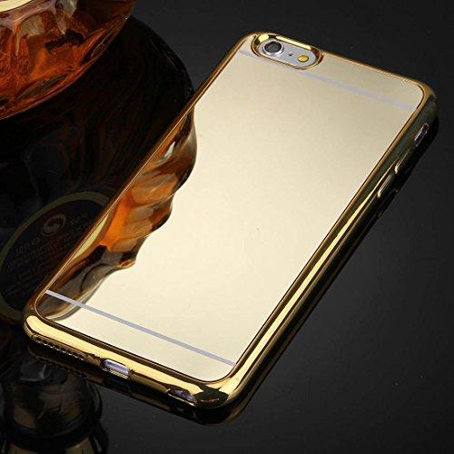 Phone Taschen & Schalen Für iPhone 6 Plus & 6s Plus Galvanik Spiegel TPU Schutzhülle Fall ( Color : Gold )