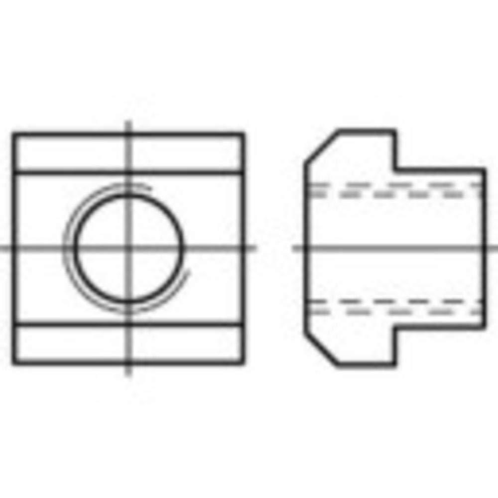 107986 TOOLCRAFT T-Nutenstein M8 12 mm DIN 508 Stahl 25 St