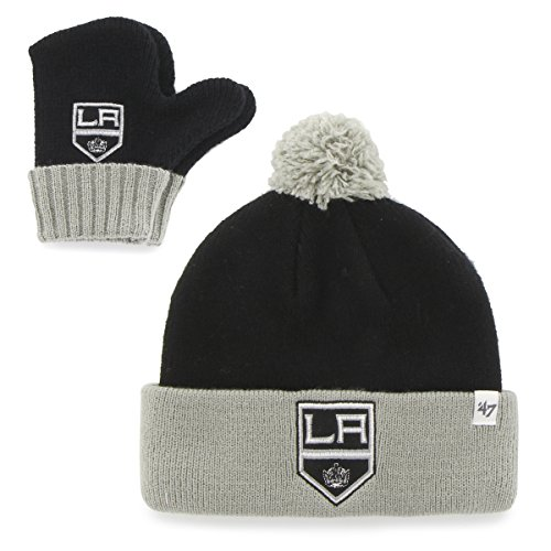 '47 NHL Infant '47 Bam Knit Hat & Mittens Set, (Over Logo Infant Beanie)