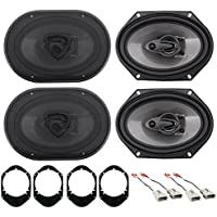 Rockville 6x8 Front+Rear Factory Speaker Replacement Kit For 04-06 Ford F-150