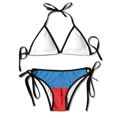 Conjunto de Bikini Sexy para Mujer de Rayas Grandes de Rusia Traje ...