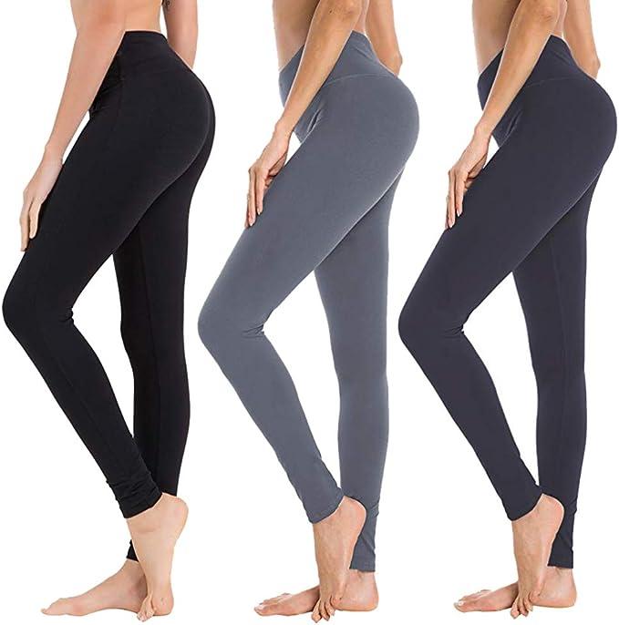 Pantaloni da yoga da donna con vita alta controllo pancia allenamento corsa stretching yoga leggings