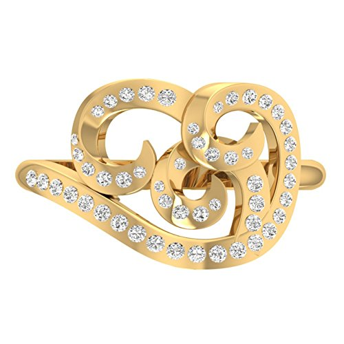 Or jaune 18K 0.39carat au total Round-cut-diamond (IJ | SI) en diamant