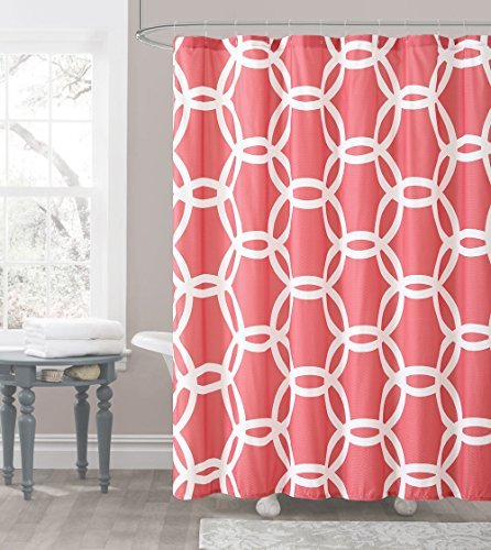 Coral Shower Curtains Amazoncom