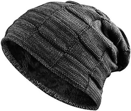 ONSON Gorro de invierno tipo slouch beanie de punto cesta con suave  interior de forro polar Negro  Amazon.es  Deportes y aire libre feb9b4a3084
