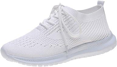 Zapatillas para Mujer Zapatos de Malla Tejida Zapatillas Casuales ...