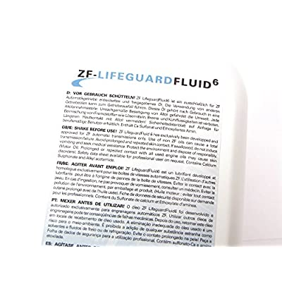Life guard fluid 6 (1 Liter) - ZF PARTS - S671090255: Automotive