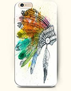 SevenArc Hard Phone Case for Apple iPhone 6 Plus ( iPhone 6 + )( 5.5 inches) - Tribal Symbol - Oil Painting
