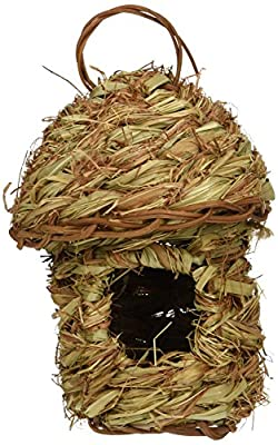 Prevue Pet Products BPV1158 Finch Bird Pagoda Top Hut Nest by TopDawg Pet Supply