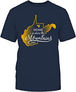 FanPrint West Virginia Mountaineers Sweatshirt - Home is Where The Mountains are