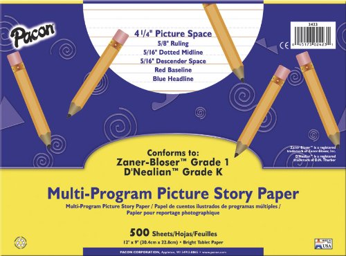 "Pacon Multi-Program Picture Story Paper, 12""X9"", D'Nealia..."