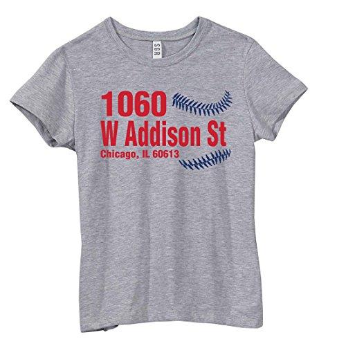 Chicago North Side Baseball - 1060 W Addison St, Chicago, IL 60613 T-Shirt Grey