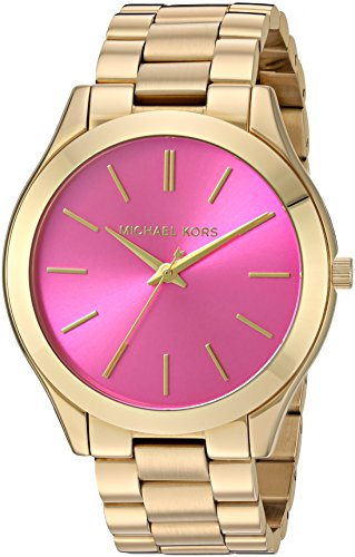 Michael Kors MK3264 Women's Slim Runway Gold-Tone Stainless