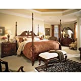 Cherry Grove Pediment Poster Bed in Antique Cherry – Queen