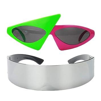 Baoblaze 2X Gafas de Sol Fiesta Robot Futurista Accesorios ...