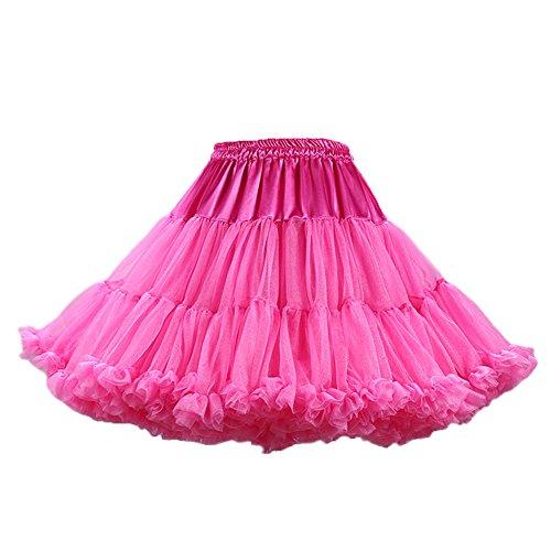 de Soie layer PhilaeEC Ballet Jupe Tutu Rose Femmes Multi Rouge Jupon Lolita Mousseline Ruffled qwagwH