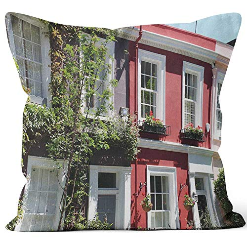 - Notting Hill Houses Throw Pillow Cover,HD Printing for Sofa Couch Car Bedroom Living Room D¨¦cor
