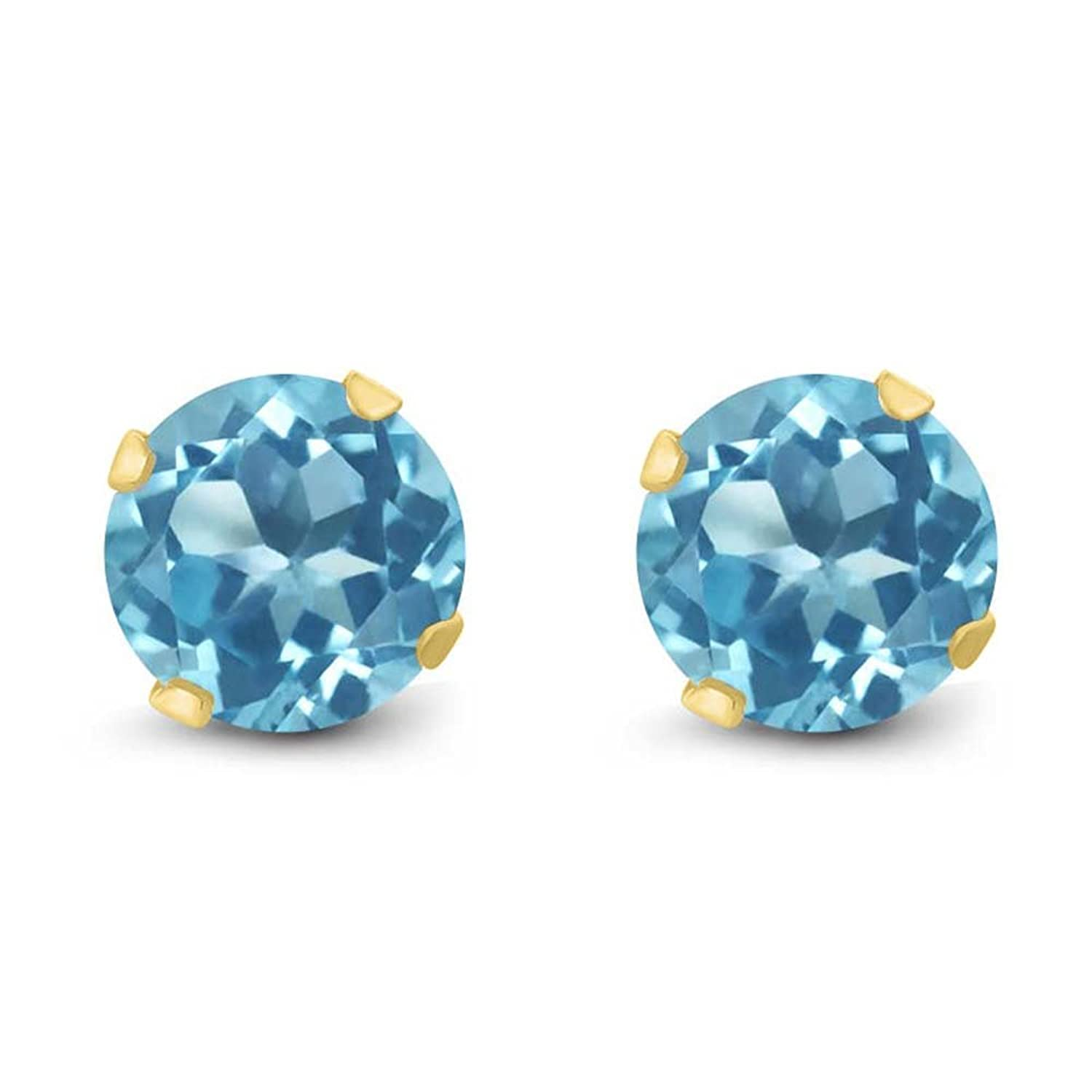 solitaire scroll star stud root shop gemstone lone kirk earrings topaz designs front blue