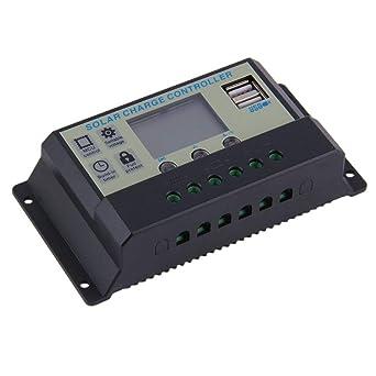 Controlador de carga solar 20A 12V / 24V de la batería ...