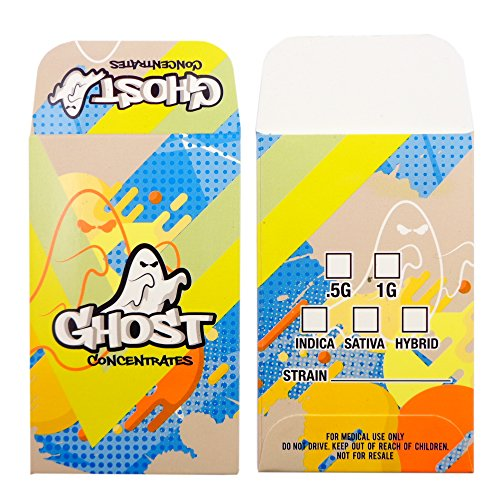 250 Ghost Concentrates Premium Matte Shatter Labels Wax Extract Envelopes #192 by Shatter Labels