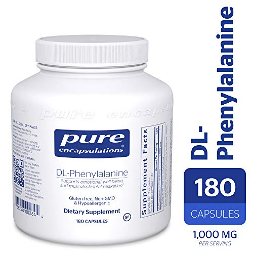 Pure Encapsulations - DL-Phenylalanine - Hypoallergenic Supplement to Support Mental Acuity and Emotional Well-Being* - 180 Capsules