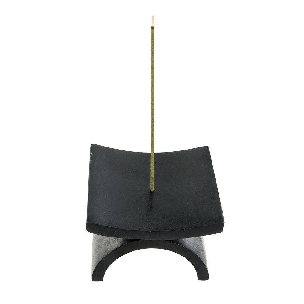 Japanese Incense Stick Holder - Eko Black Natural Stone Joss Burner Zen Minded PEX