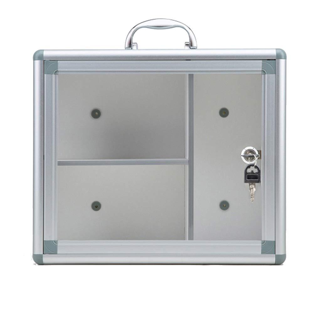 YBJPshop 応急処置キット ロックできる医学箱、救急箱、ガラスドアが付いている薬品キャビネット 携帯用救急箱、旅行、家庭用品