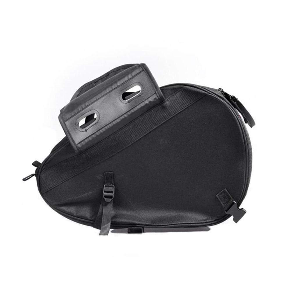 Hainter Saddle Bag Motorcycle Side Storage Bag Waterproof Durable Helmet Riding Travel Side Box