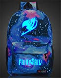 Siawasey Anime Fairy Tail Cosplay Luminous Laptop Bag Bookbag Backpack School Bag