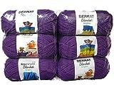Bernat Blanket Brights Yarn, 5.3oz, 6-Pack (Pow Purple)