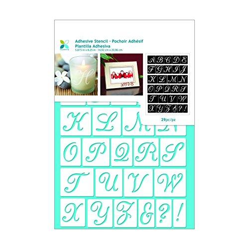 Script Stencil Alphabet - Momenta Script Alphabet Adhesive Stencil